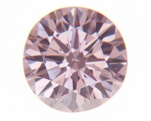 Fancy Orangy Pink Natural Loose Diamond 0.10 Cts Round Color GIA