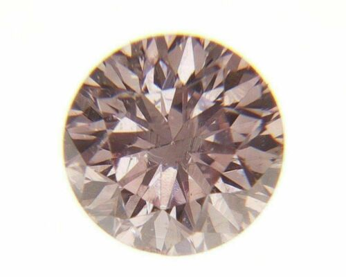 Fancy Pink Natural Loose Diamond 0.06 Cts Round Color GIA Cert