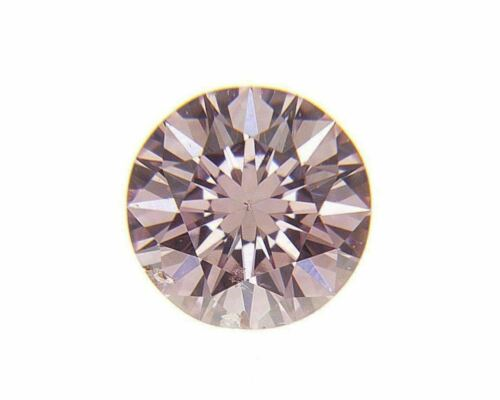 Fancy Pink Natural Loose Diamond 0.08 Cts Round GIA Cert