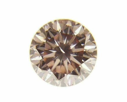 Fancy Orangy Pink Natural Loose Diamond 0.09 Cts Round Color GIA Cert