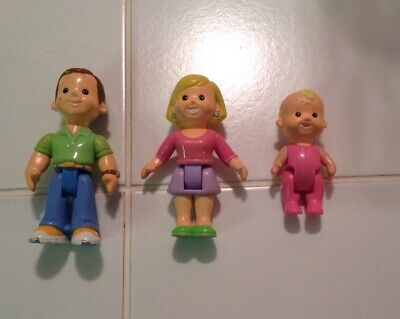 Fisher Price My First Dollhouse Mom, Dad, and Baby people figures Lot