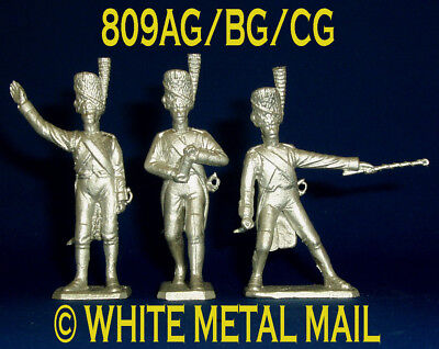 809AG/BG/CG Set 1:32 Scale Napoleonic Artillery N.C.O; Port Fire; Carrying Round