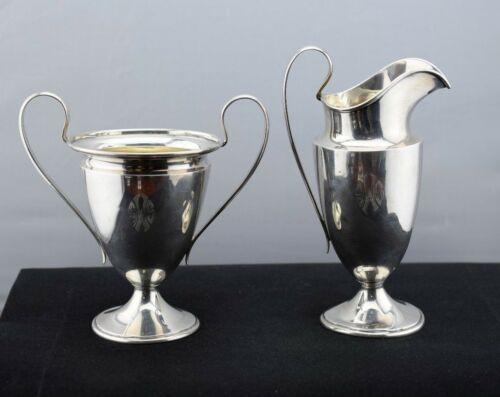 Wendell Mfg. Co. Sterling Silver Cream and Sugar Bowl  Set Pattern 7846