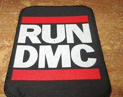 RUN DMC COLLECTABLE VINTAGE PATCH  WOVEN  ENGLISH PICTURE