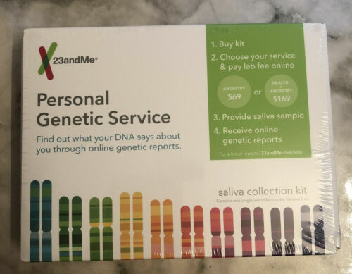 *NEW* 23andMe Personal Genetic Service (Saliva Collection Kit) 23 and Me *NEW*