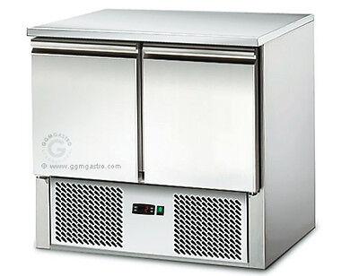 [SAS97E] Saladette / Kühltisch 0,9mx0,7m - mit 2 Türen
