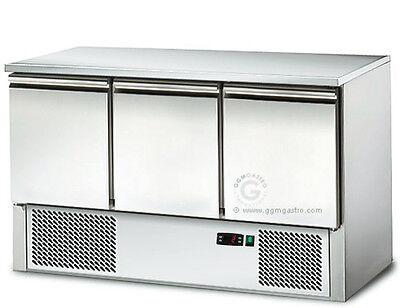 [SAS147E] Saladette / Kühltisch 1,37mx0,7m - mit 3 Türen