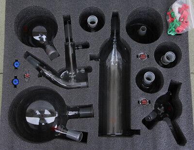 Short Path Distillation Glassware Kit With Cold Trap 2l Short Path Condenser