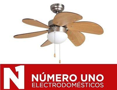 Ventilador de Techo Orbegozo CP 15075 N, Plata-Madera, 50 W