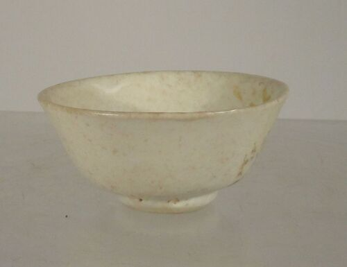 Antique Chinese Ding Yao Style White Glazed Porcelain Bowl Tea Wine Cup