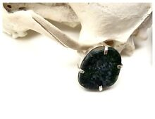 NEW Unisex Deep Green Moss Agate Gemstone & Sterling Silver Ring North Melbourne Melbourne City Preview