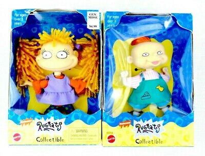 Vintage 1998 Mattel Nickelodeon Rugrats Phil Angelica Collectible Doll Figures