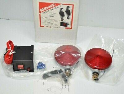 Nos Sho-me Red Thin Incandescent Trunk Deck Lights Kits 04.0353 Vintage Cop Car