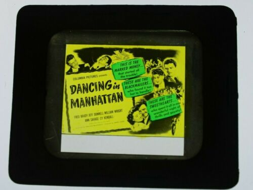 Dancing in Manhattan 1944 glass slide - Fred Brady - free shipping