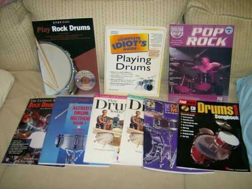 lot of 9 DRUM INSTRUCTION BOOKS