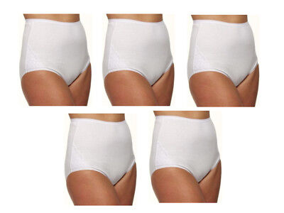 Vanity Fair Cotton LACE Panties (5) Five-pack Briefs 15321 White Sz- (Vanity Fair Lace Briefs)