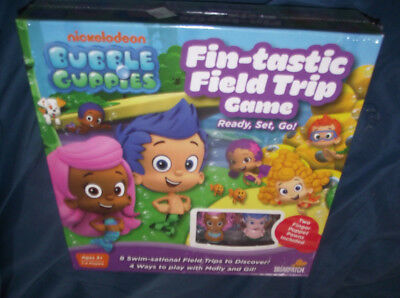 BRAND NEW Nickelodeon Bubble Guppies Fin-Tastic Field Trip Ready, Set, Go! Game  (Bubble Guppy Toys)