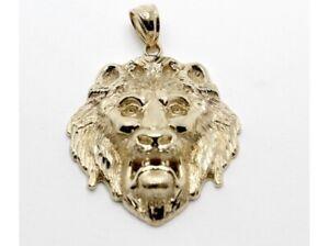 9ct Yellow Gold Lion Pendant- JJ176724