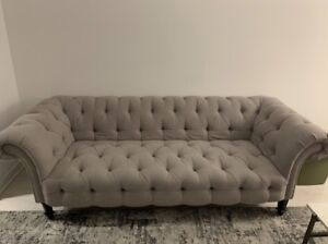 Tufted Living Room Couch for sale, in great condition!