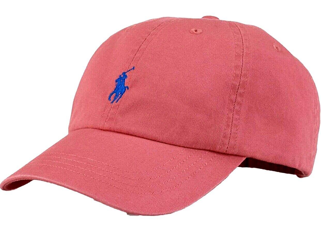POLO RALPH LAUREN Cotton Chino Baseball Cap Hat Small Pony Adjustable Strap