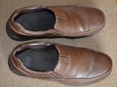 Croft & Barrow Mens Slip On Loafers Shoes Brown Synthetic Leather Size 12