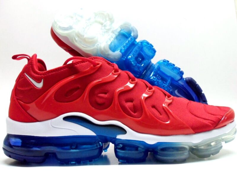 reputable site ea79a a6aad NIKE AIR VAPORMAX PLUS USA UNIVERSITY RED/WHITE-BLACK SIZE ...