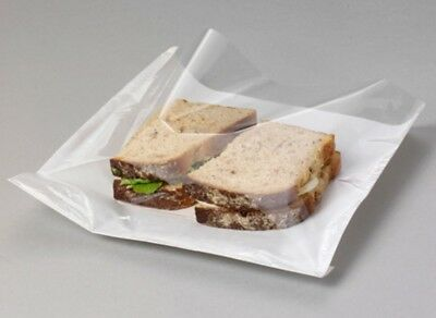 1000 APPROX FILM FRONT CELLOPHANE PAPER CLEAR WINDOW SANDWICH BAGS