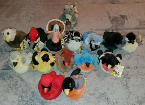 AUDUBON BIRDS Plush Sound Wild Republic K&M Bird Calls Stuffed Animal Lot Of 13