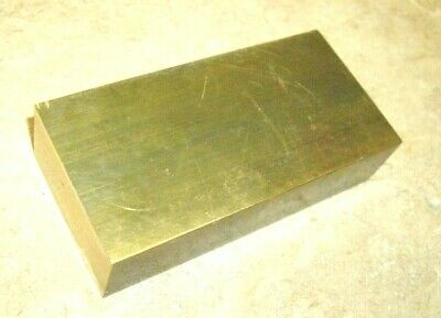 Brass Flat Bar Stock 2x 1 X 4 Long C360 Extruded Rectangle - 1pc Solid