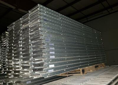 68 Unex Span Track Carton Flow Gravity Roller Conveyor 9.5 X 93 Lot Of 68