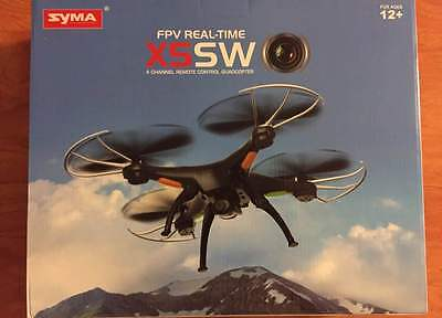 Syma X5SW WIFI FPV 2.4Ghz 4CH 6-Axis Quadcopter Drone (Black)with 2MP Camera