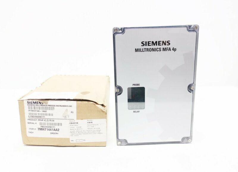 Siemens 1P7MH7144-1AA2 Milltronics Mfa 4p Motion Failure Alarm Controller