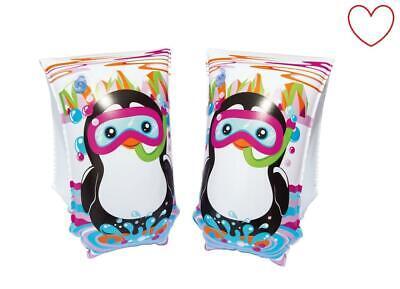 Fasce da Braccio Ragazzi Pinguino Nuoto Aiuto Gonfiabile Spiaggia Piscina Estate