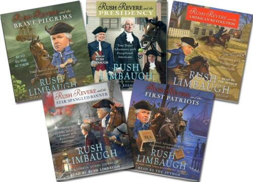 NEW Rush Revere 5 Audio CD SET Complete Series Limbaugh Homeschool History