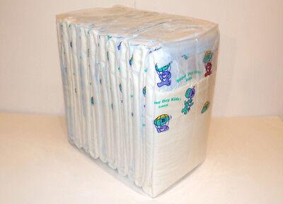 Vintage ABUniverse Super Dry Kids Size Large Bag of 10 L Adult Diapers Old SDK
