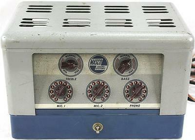 Vintage Late 40's Masco MA-17 MA-17N Tube Amplifier Amp -Harmonica on Rummage