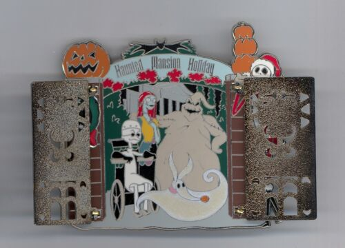 Disney Haunted Mansion Holiday Nightmare Front Gate Jack Oogie Hinged Jumbo Pin