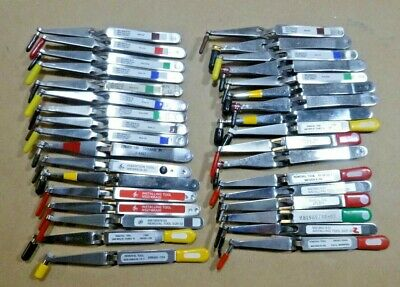 Lot Of 34 Assorted Electrical Contacts M819698 Removal Extraction Tweezers Usa
