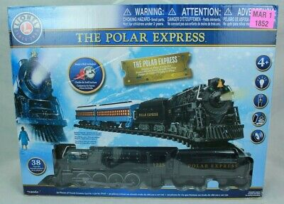 THE POLAR EXPRESS LIONEL 712061-200 BATTERY OPERATED TRAIN 38PC SET XMAS NEW!