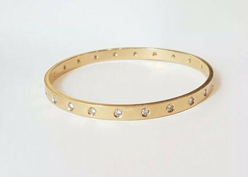 Bracelet jonc or jaune 18 carats sertie de diamants / gold bracelet / no cartier