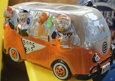 2016 Yankee Candle BONEY BUNCH BOOS BUS VW BUS Votive Holder NEW In Box