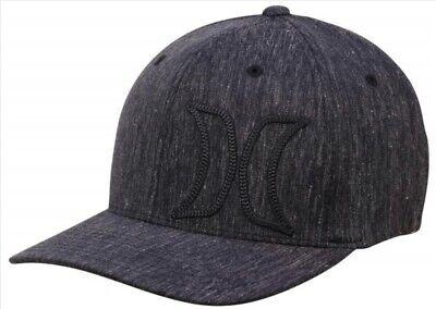 Hurley Men's Cove Flex-Fit Hat Cap- Obsidian