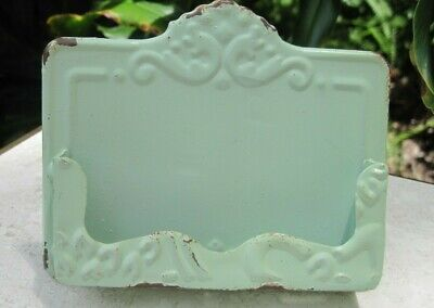 Shabby Chic Vintage Style Business Card Holder - Soft Mint Green Mermaid Soap