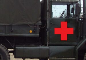 Red-Cross-Sticker-Vinyl-Decal-You-Choose-Size-Color