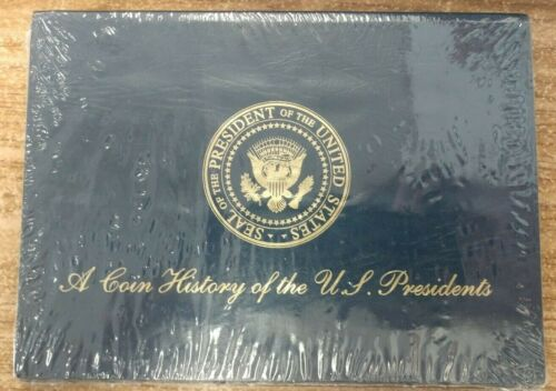 A Coin History of the U.S. Presidents - Folder and Brass Coins - New and Sealed