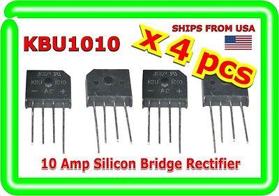 Single Phase 10a 1000v Kbu1010 Diode Bridge Rectifiers 4pin Kbu-1010 X 4 Pcs