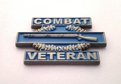 COMBAT VETERAN (CIB) US ARMY INFANTRY Military Hat Pin P62572 EE