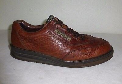 Mephisto MATCH Men's Size 11 Chestnut Brown Leather Comfort Walking Shoes France