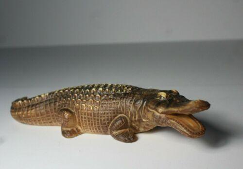 """Vintage Mid 20thC Japanese Porcelain Alligator Figurine 9"""""""