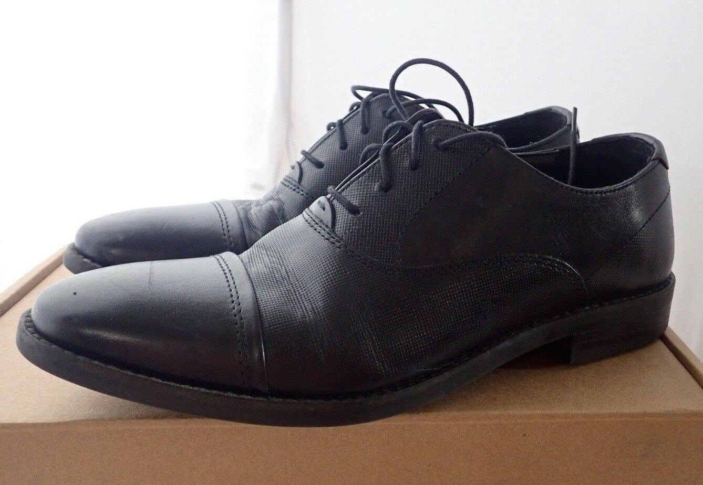 56cb6d55261 Steve Madden Men's Finnch Oxford, Black Leather, 7.5 M US | eBay